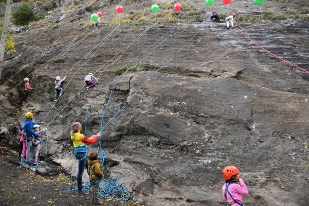 Vies d'escalada al Roc dels Palinquerons.