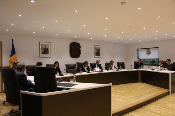 Un moment de la sessió de consell de comú celebrada aquest dilluns a la tarda a Andorra la Vella.