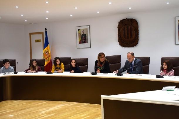 Un moment del consell d'infants celebrat aquest dimarts al matí a Andorra la Vella.