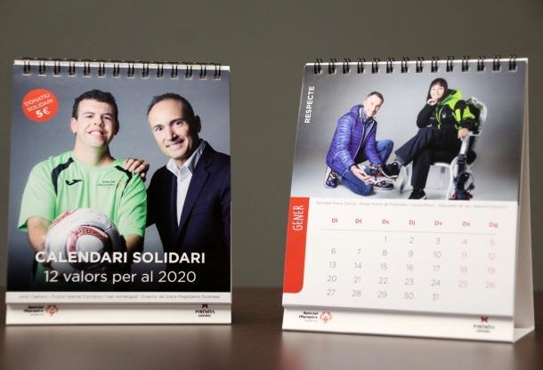 Dues imatges del calendari solidari