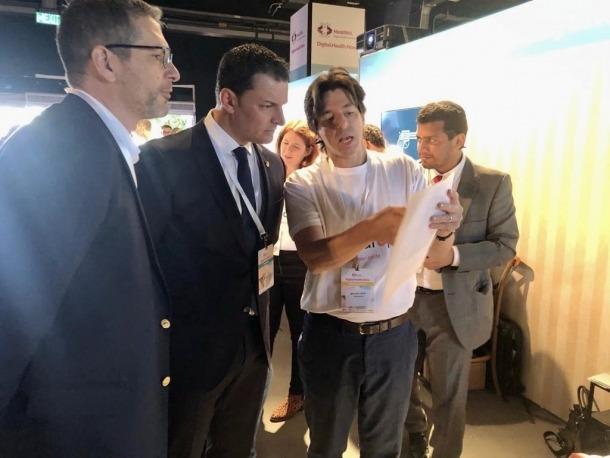 El ministre de Presidència, Economia i Empresa, Jordi Gallardo, durant el seu viatge a Israel.