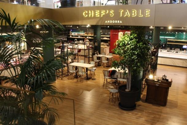 L'entrada al restaurant Chef's Table d'Andorra la Vella.