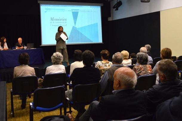 La cònsol major d'Andorra la Vella, Conxita Marsol, en l'acte que va servir per agrair als testimonis la seva participació.