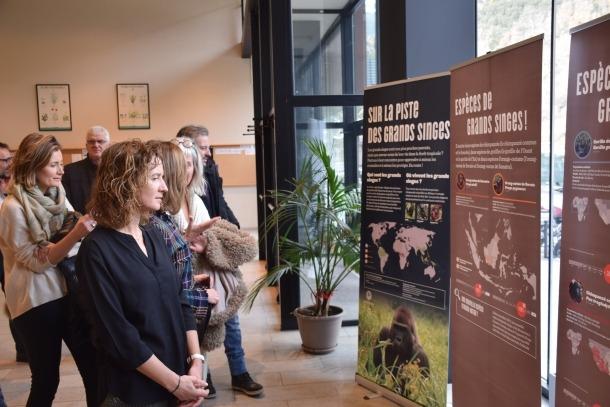 Inauguració de l'exposició 'Sur la piste des grands singes'.