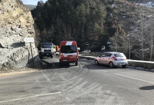 La zona on ha tingut lloc l'accident.