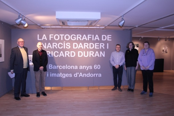 Ricard Duran fill; Joaquim Dolsa; Valentí Closa i les filles de Narcís Darder, Isabel i Anna Darder.