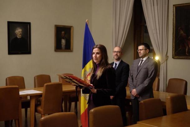 La ministra de Cultura i Esports, Sílvia Riva, durant l'acte.
