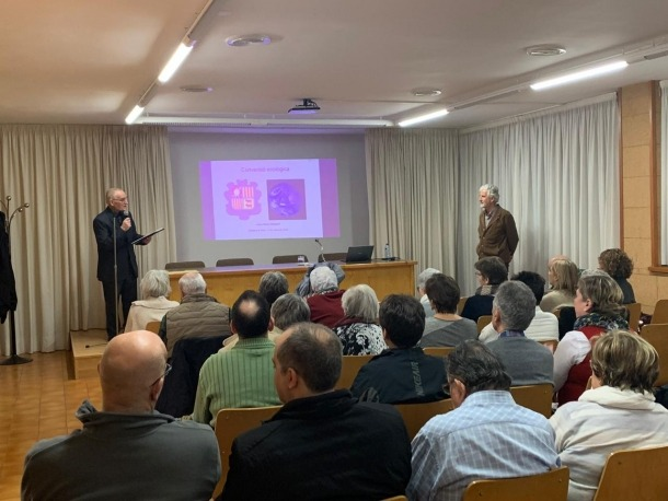Un moment de la xerrada de Josep Maria Mallarach.
