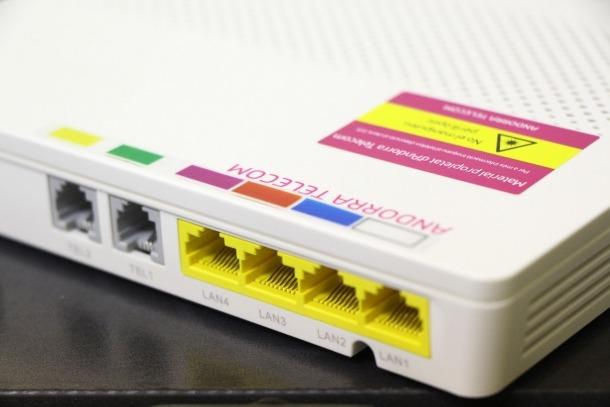 Una ONT d'Andorra Telecom.
