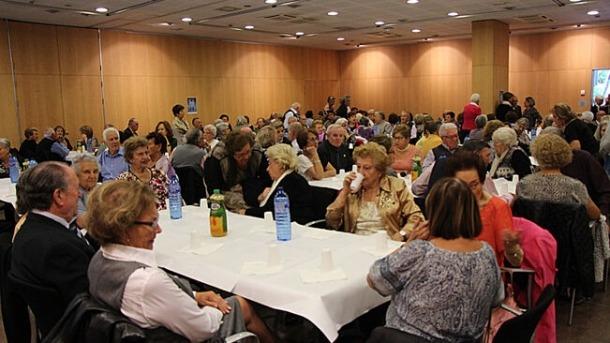 Un instant d'una assemblea de la Federació de Gent Gran.