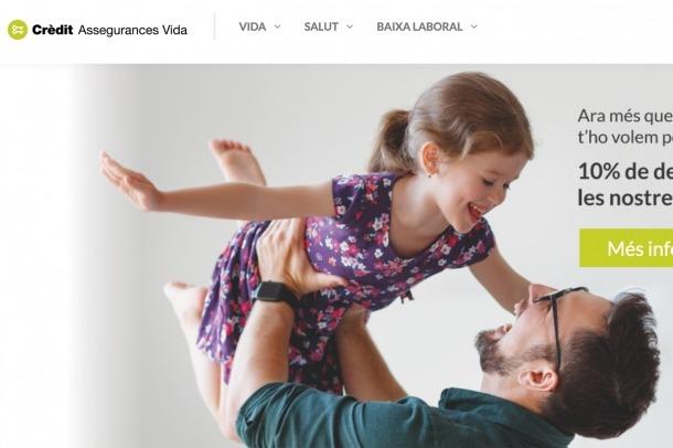 El portal de Crèdit Assegurances Vida.