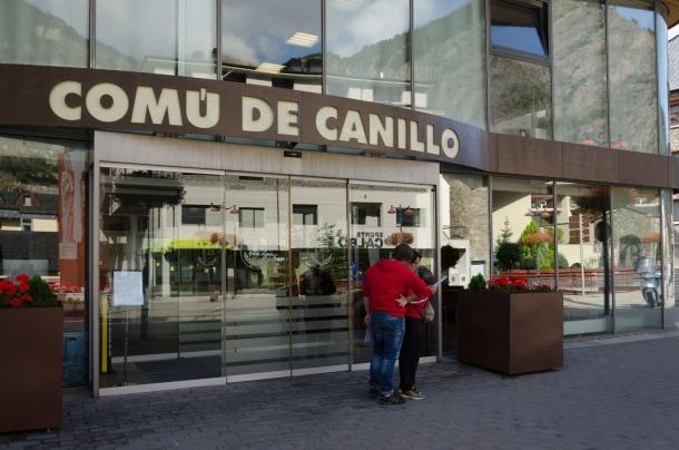 L'entrada del Comú de Canillo.