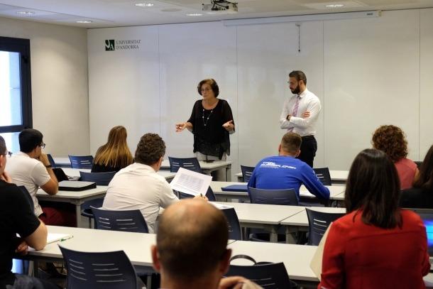 Una classe de la Universitat d'Andorra.