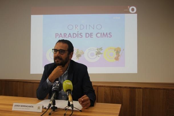 El conseller de Turisme, Esports i Dinamització d'Ordino, Jordi Serracanta, presenta la campanya d'estiu 'Ordino, paradís de cims'.