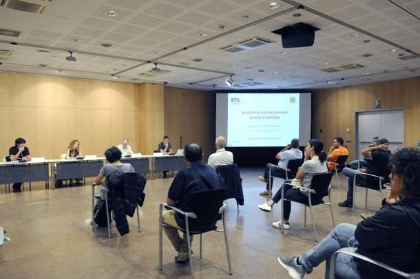 Un moment de la presentació de l'estudi que ha fet l'IRTA.