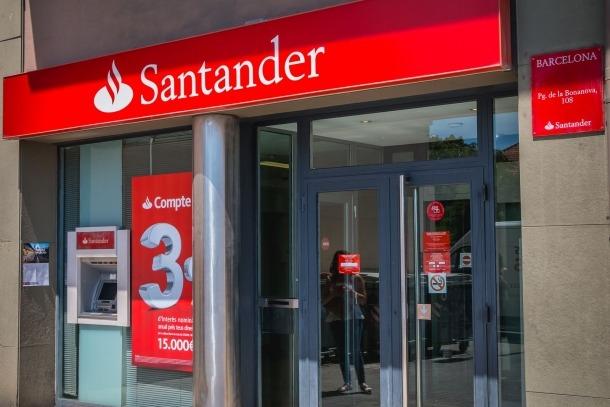 Una sucursal de l'entitat Banco Santander.