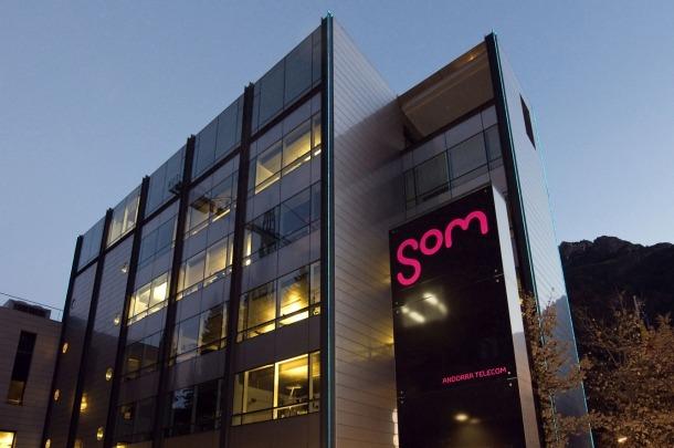 Vista de la seu central d'Andorra Telecom.