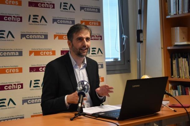 Joan Micó, director del CRES, aquest dijous durant la presentació dels observatoris.