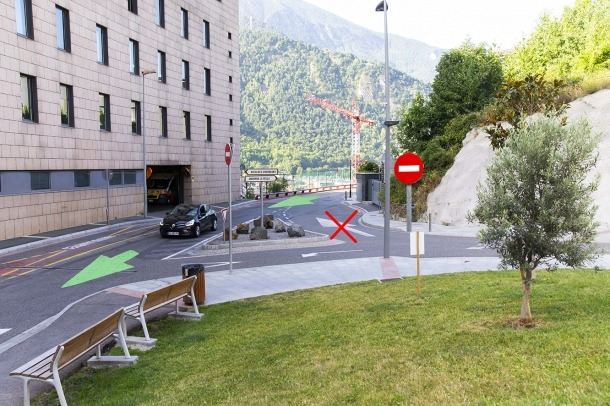 Els canvis de sentit aplicats al carrer Sant Andreu.