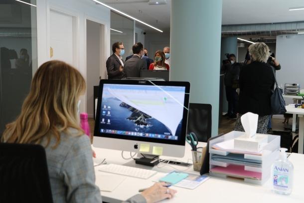 Les instal·lacions del nou 'coworking' de Bomosa.