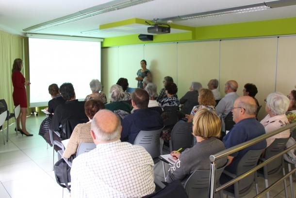 Un taller a L'espai de la Fundació Crèdit Andorrà.