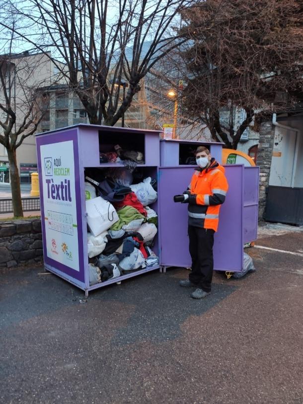 Els contenidors de roba usada d'Encamp.