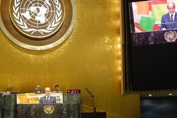 Antoni Martí en una intervenció anterior a Nacions Unides.