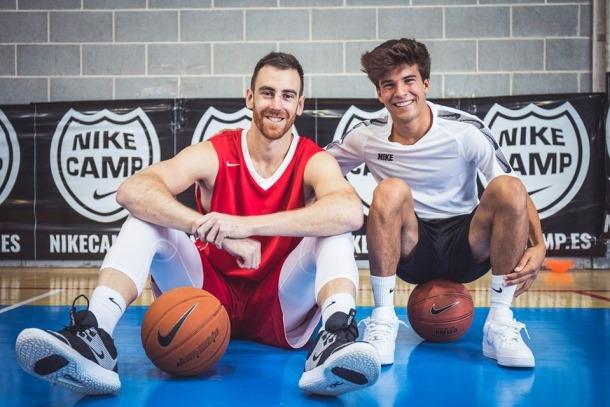 Víctor Claver i Riqui Puig, al Nike Camp de la passada edició.