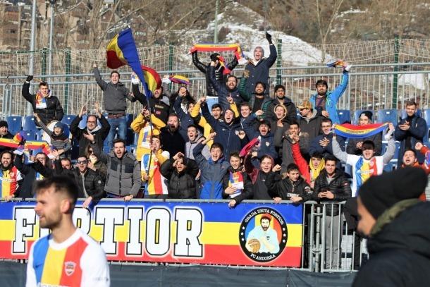 L'afició de l'FC Andorra, en un partit d'aquesta temporada.
