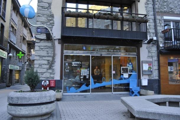 L'oficina de turisme d'Encamp.