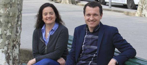 Carlota Valls i Òscar Ordeig, del grup municipal Compromís per la Seu.