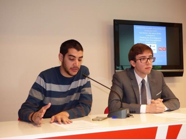 Pere Baró i Roger Padreny en la compareixença d'ahir.