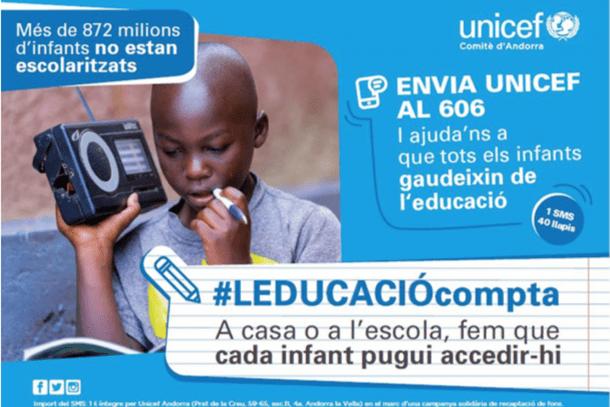 El cartell de la campanya d'Unicef.
