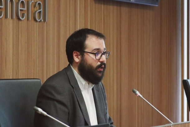 El conseller general socialdemòcrata Carles Sánchez.