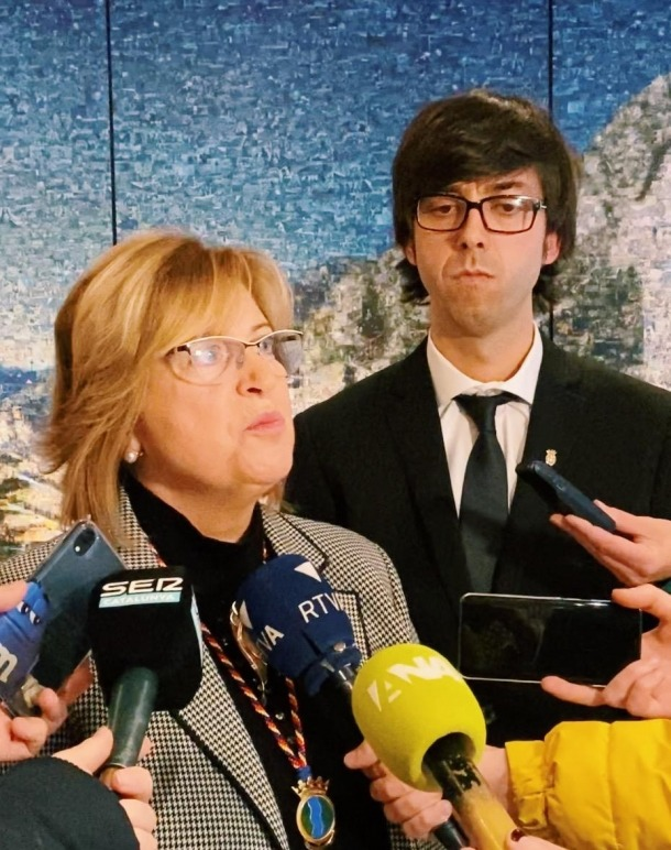 Dolors Carmona i Sergi González en una compareixença anterior.
