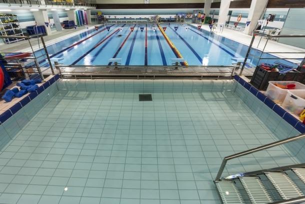 Les piscines del Centre Esportiu Sant Julià de Lòria.