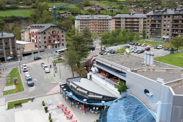 Vista general del centre d'Encamp.