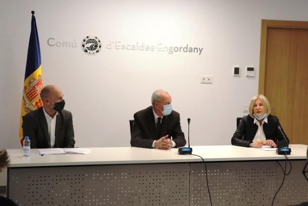 Els consellers de DA a l'oposició d'Escaldes, Jordi Vilanova, Miquel Aleix i Nuri Barquín.