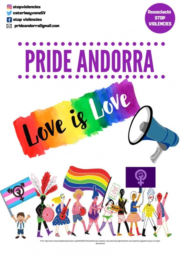 Cartell de la 'Pride' Andorra