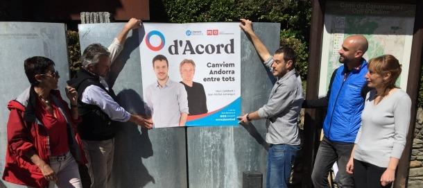 d'Acord va penjar ahir el cartell del partit amb moltes expectatives dipositades.