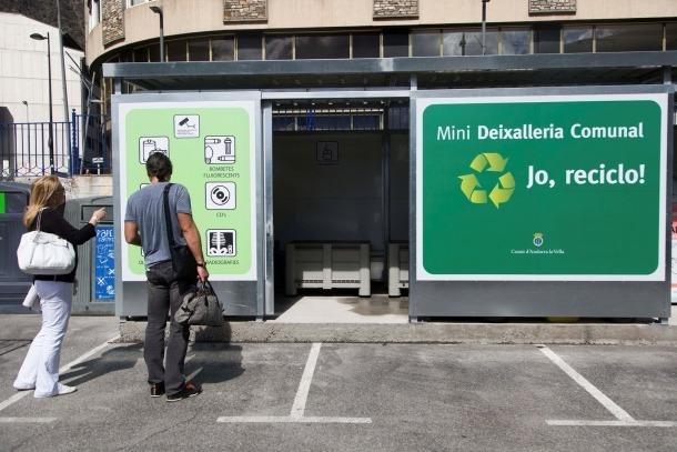 Instal·lacions de la deixalleria comunal d'Andorra la Vella.