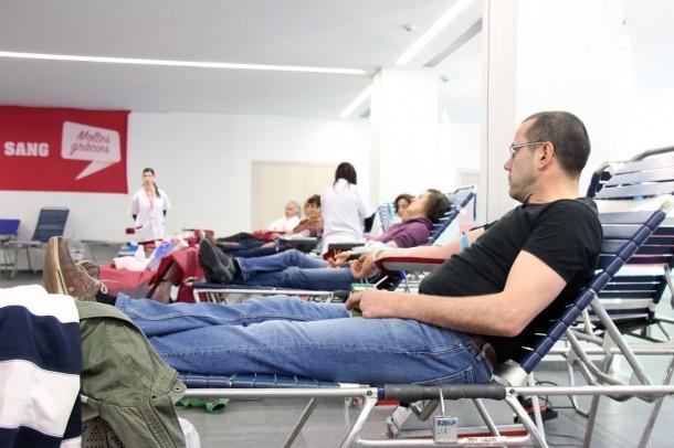 Un moment de l'acte inaugural de la 2a Marató de donació de sang d'Andorra