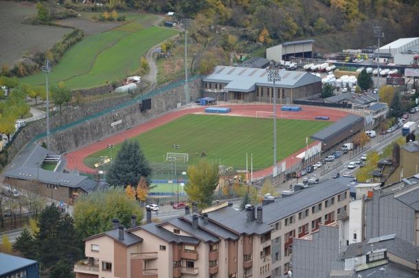 L'Estadi Comunal d'Andorra la Vella.