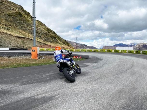 Tito Rabat entrenant al Circuit Andorra del Pas de la Casa