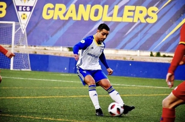 El lateral internacional Marc García amb l'Esport Club Granollers.