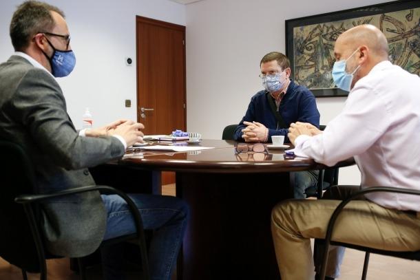 Un moment de la trobada de Filloy i Martínez Benazet amb Zapatero.