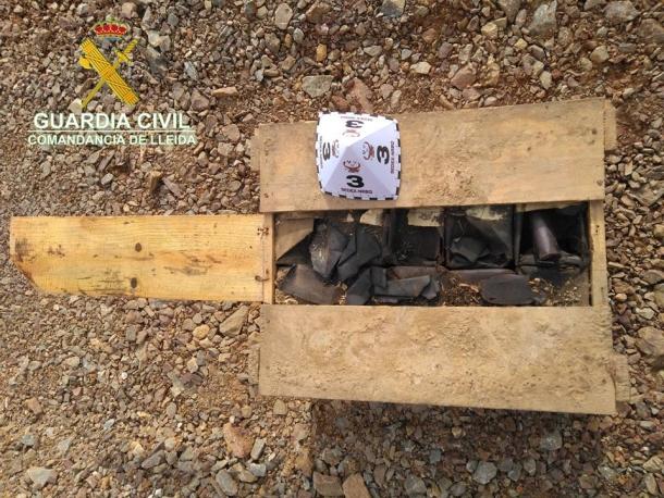 Els explosius localitzats a Bellver de Cerdanya.