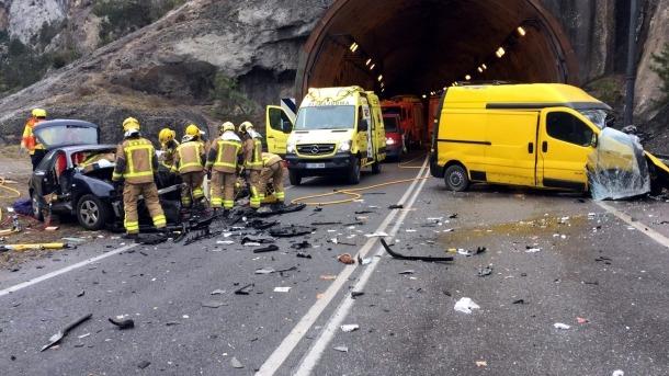 A l'accident de Gerri de la Sal es van veure implicats tres vehicles.