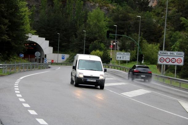L'accident ha tingut lloc a la boca sud del túnel del Cadí.