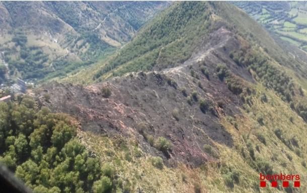 L'incendi va afectar el serrat d'Escobedo.
